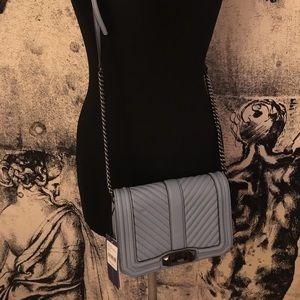 Rebecca Minkoff powder blue leather crossbody bag